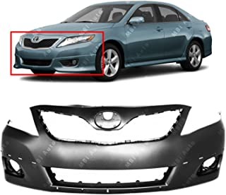 MBI AUTO - Primered, Front Bumper Cover Fascia for 2010 2011 Toyota Camry SE 10 11, TO1000355