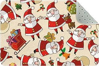 Doormat Custom Indoor Welcome Door Mat, Christmas Town Home Decorative Entry Rug Garden/Kitchen/Bedroom Mat Non-Slip Rubbe...