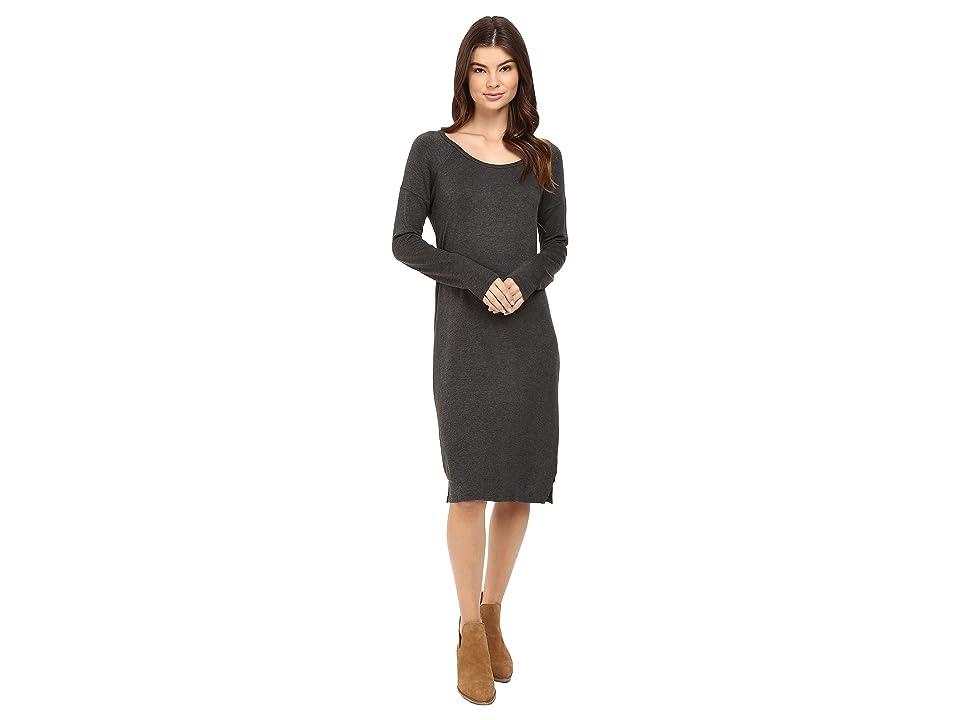 Obey Riley Raglan Dress (Heather Charcoal) Women