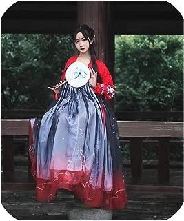 Hanfu Chinese Traditional Women Ancient Dress Folk Festival Clothing Dc1133