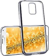 MoEx® Funda de Silicona Transparente de Estilo Cromado Compatible con Samsung Galaxy S5 | Anthracite