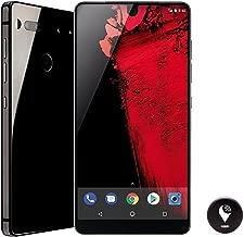 Essential Phone 128 GB Unlocked with Full Display, Dual Camera – Black Moon and TrackR pixel Black