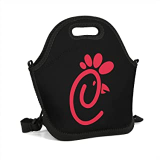 uter ewjrt Durable Spacious Interior Chick-fil-A-Logo- Funny Lunch Box Toto Mom Bag for School Work Outside Picnic