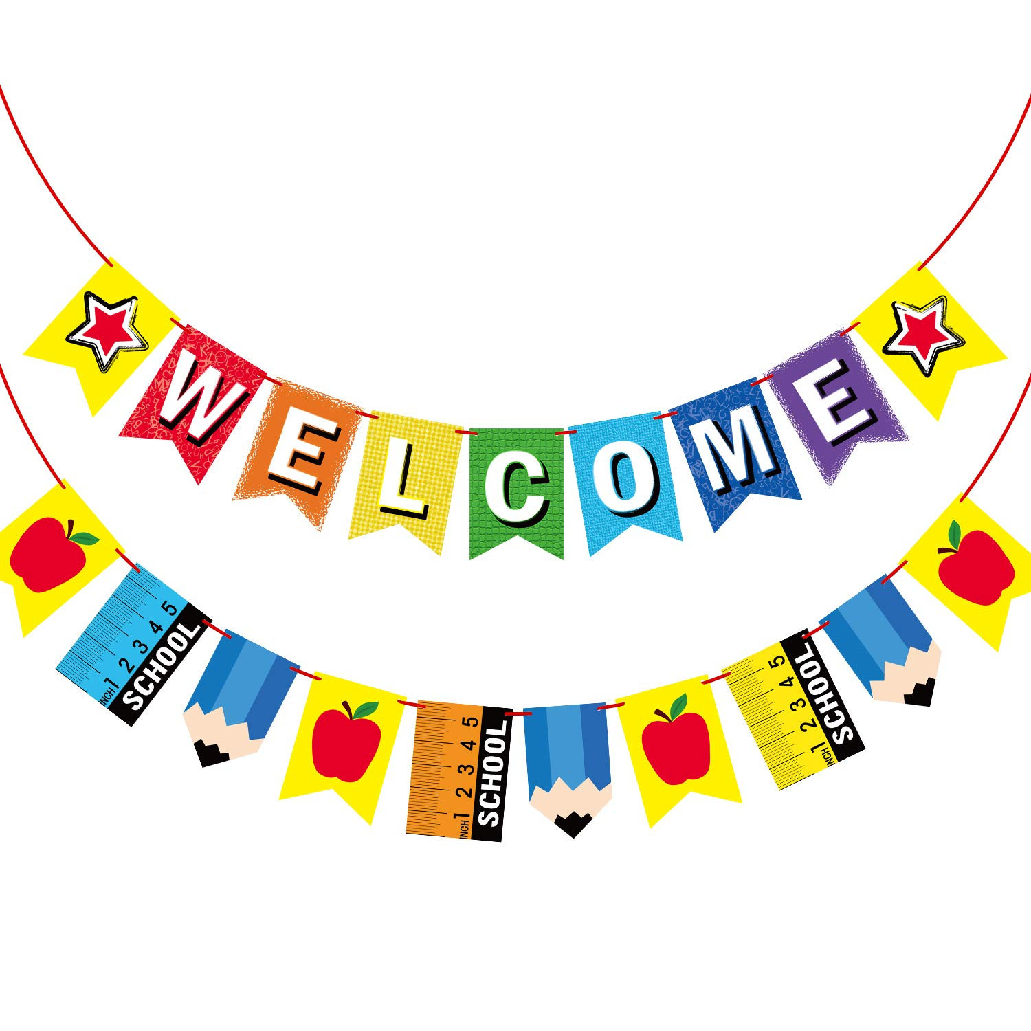 Welcome Banner for Party Supplies First Day of School Banner ...
