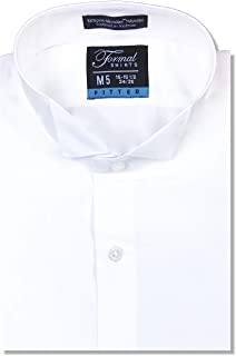Sponsored Ad - Luxe Microfiber Men's Fitted Wing Collar Convertible Cuff Tuxedo Shirt - Style Frankie