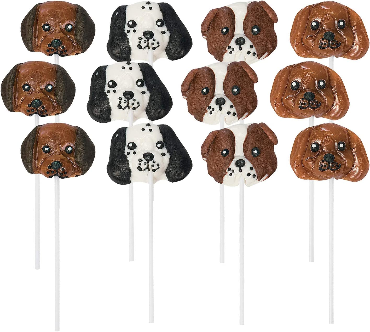 Fun Express Dog Head Lollipops 12 Factory outlet Party Count Max 73% OFF Favor Candy Su