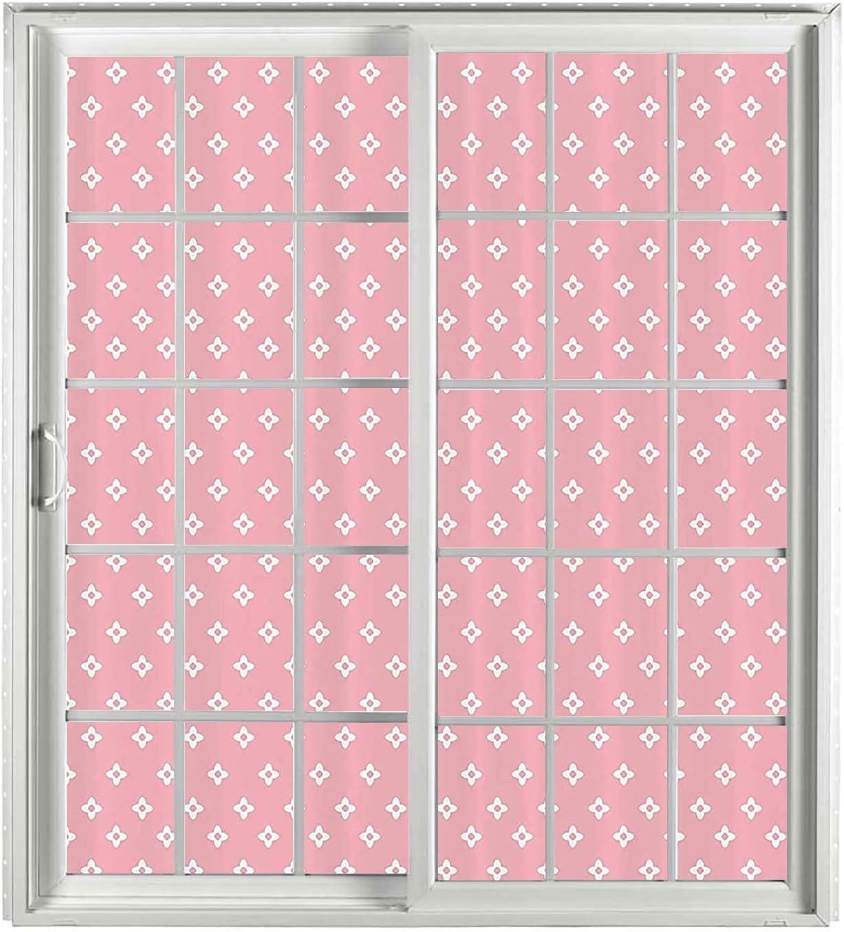 Pink UV Window Film 2 PCS Heat Control White Priv Light Milwaukee Mall Set 70% OFF Outlet