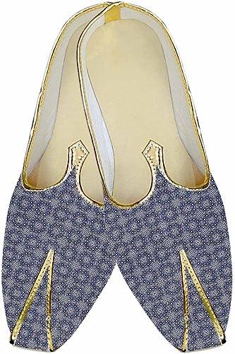 INMONARCH Herren Himmel Blau Hochzeit Schuhe Kreis Design MJ015184