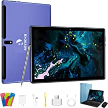 Tablet 10 Zoll 4G LTE Dual-SIM 2 in1 Tablet mit Tastatur 4 GB RAM + 64 GB ROM, 128 GB..