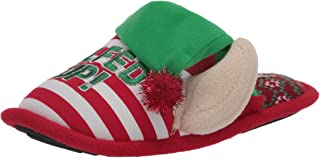 Dearfoams Unisex Holiday Funny Character Ugly Sweater Scuff Slipper womens Slipper