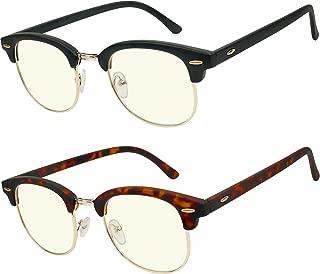 Anti GlareComputerReading glasses Blue Light Blocking Reduce Eyestrain forComputer and Screens Style for Men and Women