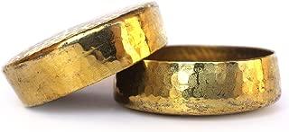 De Kulture Works Hand Made Pure Brass T Light Votive Holder Set Of 2 - 2.3X0.75 DH (In) (Gold)
