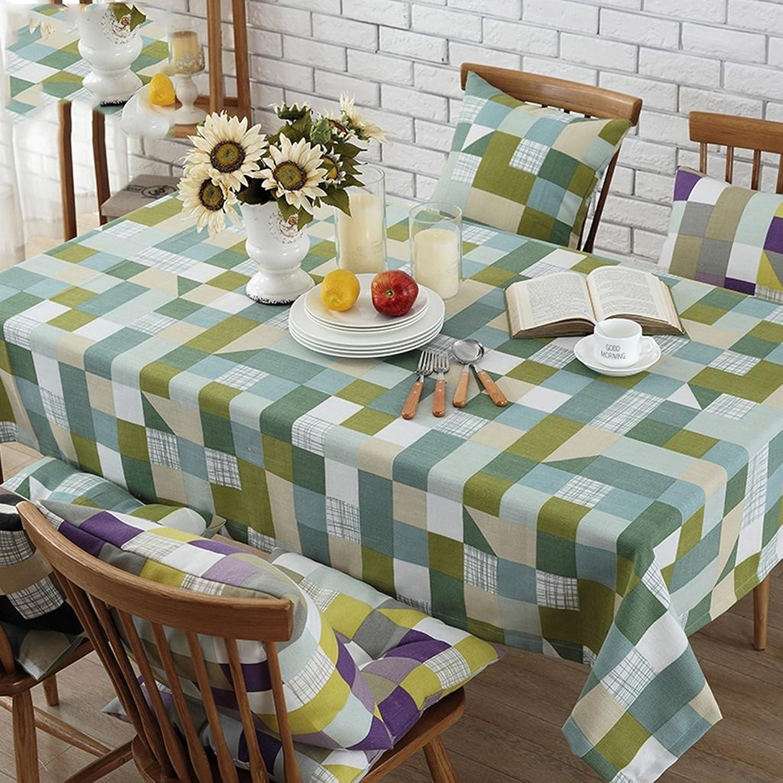 WYZ Küche Tischdecke Tischdecke Rectangle Printing Lndliches Leinen Waschbares Gourmet Dinner Picknick Tischdecke (Farbe    -7, gre   140  200CM)
