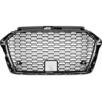 For Audi A3 S3 8V 2013-2016 RS3 Style Mesh Black Front Grill Honeycomb Grille