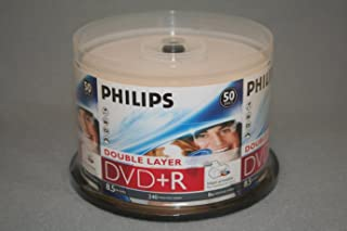 PHILIPS DVD+R 8.5G Inkjet Dual, Layer,Cake Box, 50PKS, 600/CRN A2