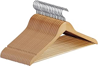 nobrand Waller PAA Natural Mix Wooden Suit/Shirt/Pant/Skirt Hangers Premium Quality (Pack of 20)