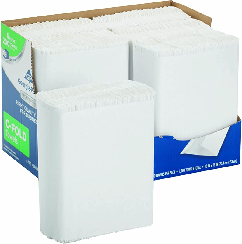 Georgia Pacific Professional Series Premium 1 Ply C Fold Paper Towels By GP PRO Georgia Pacific White 2112014 200 Towels Per Pack 6 Packs Per Case