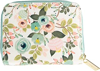 Mary Square Peach Floral Hide and Seek Accordion Wallet