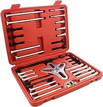 Auto Body Now ABN Harmonic Balancer Puller 46-Piece Tool Kit – Flywheel Remover, Crankshaft Pulley Removal, Steering Wheel Pulling Set