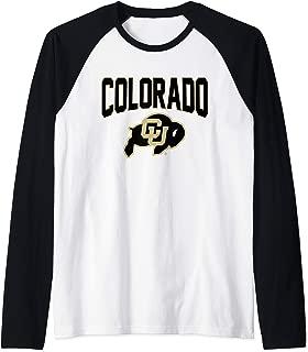 Colorado Buffaloes CU Buffs NCAA C48AH03 Raglan Baseball Tee