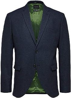 Selected Men's Slhslim-myloiver Blue Melange BLZ B Noos Blazer
