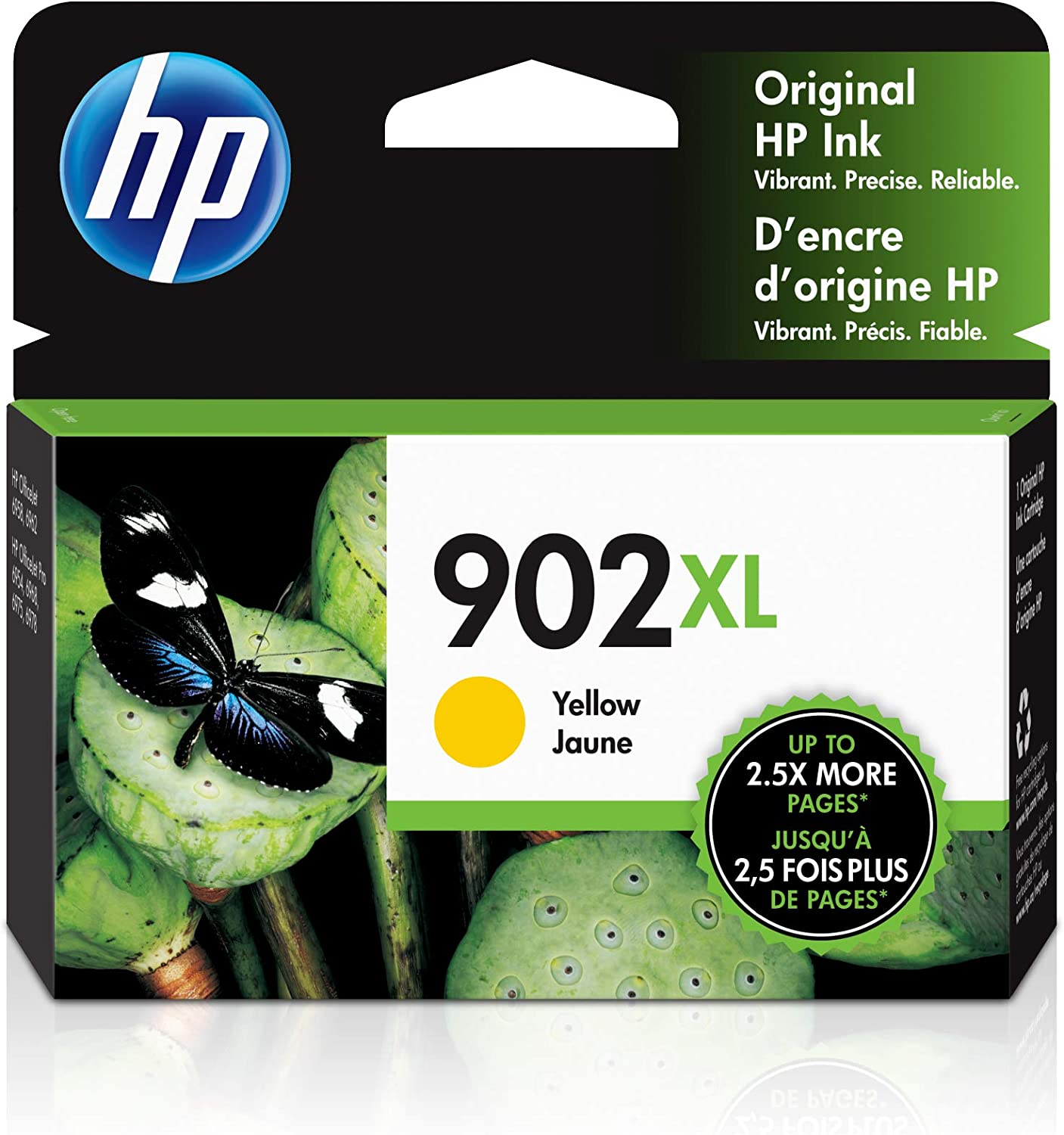 HP 902XL | Ink Cartridge | Yellow | Works with HP OfficeJet 6900 Series, HP OfficeJet Pro 6900 Series | T6M10AN