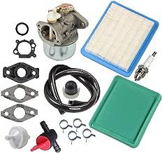 Panari 799869 Carburetor + Tune Up Kit Air Filter Fuel Valve for Briggs and Stratton 499059 792253 497586 491588 491435S 694395