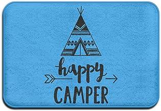 Happy Camper Tent Fun Home Doormat Floor Mat Non-slip