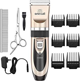 Sponsored Ad - oneisall Dog Shaver Clippers Low Noise Rechargeable Cordless Electric Quiet Hair Clippers Set for Dogs Cats...