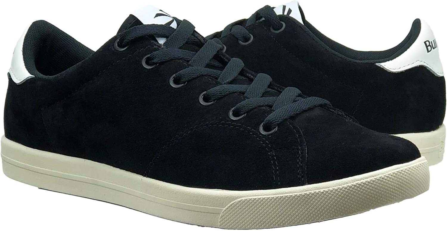 Burnetie Men's Black Suede Leather Carnaby Sneaker