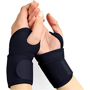 Adjustable Wrist Support Strap Breathable Neoprene Wrist Brace Compression Pad for Men and Women 2 Pack Luxxii