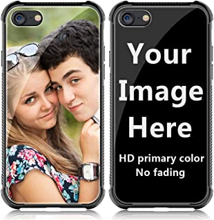 Shumei Custom Case iPhone7 or iPhone8 Glass Cover 4.7 inch Anti-Scratch Soft TPU Personalized Photo Make Your Own Picture Phone Cases