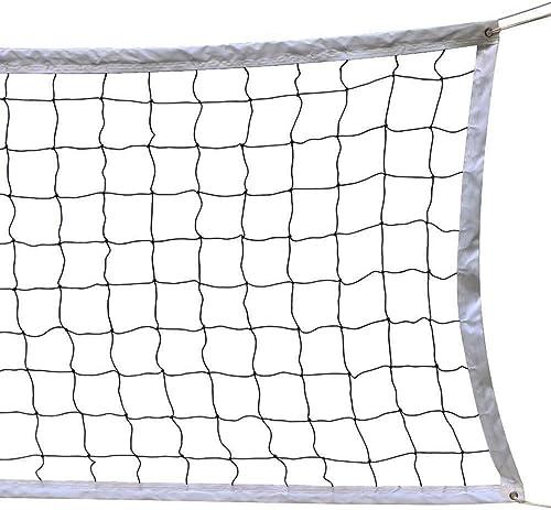 HOGAR AMO Filet de Volleyball 9.5M x 1M Filet de Loisirs Réglable en Hauteur pour Plage Facile à Transporter Filet de...