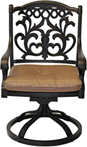 K&B PATIO LD1238-11 Mandalay Swivel Rocker, Antique Bronze