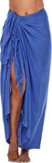 Shu-Shi Womens Beach Cover Up Sarong Swimsuit Cover-Up Many Solids Colors to choose,Royal Blue,One Size
