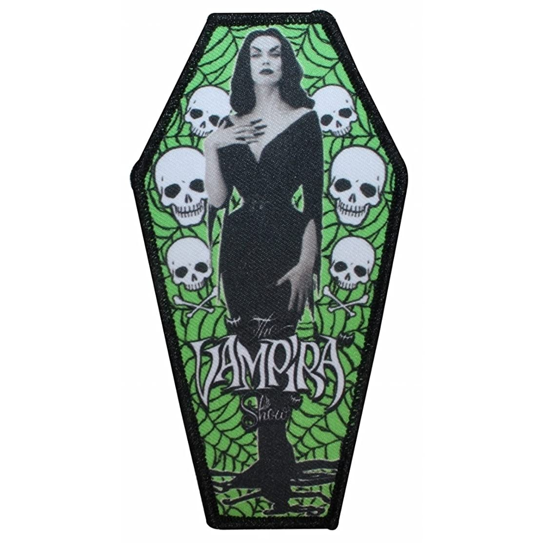 The Vampira Show Coffin Logo Horror Movies Kreepsville Iron On Applique Patch