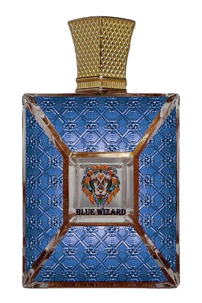 幹傷つきやすい有害BLUE WIZARD(ロイヤルクリード)フランス。男性のためのオードパルファムSpay。 100ml(3.4オンス。Wt 680gm。ボックスサイズ17 x 11.5 x 6 cm