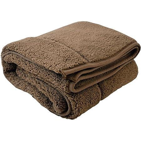 包まれた瞬間からポカポカ 二枚合わせの温もり もこもこ毛布 ブラウン クイーン 200x200cm