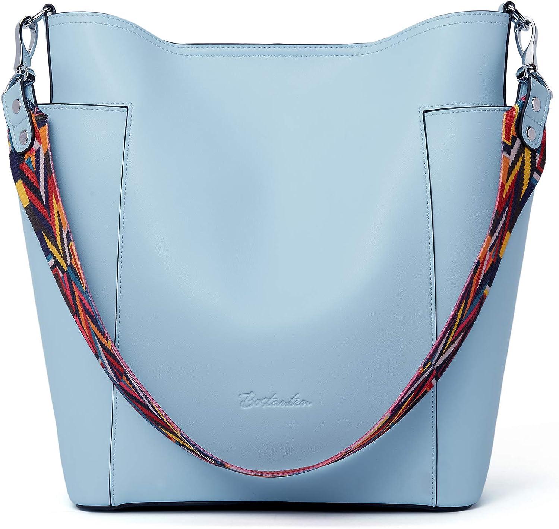 BOSTANTEN Genuine Leather Bucket Hobo Shoulder mart Handbag Designer High quality new