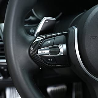 Karbonfaser Verkleidung für M3, M4, M5, New 1, 3 Series, F20, F30, X5M, F15, Auto ABS Chrom Lenkradknopf Rahmen Abdeckung.
