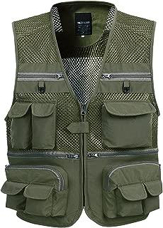 Sentao Herren Weste /Ärmellos Sport Outwear mit Rei/ßverschluss Outdoor-Weste Jacke mit Vielen Praktischen Taschen