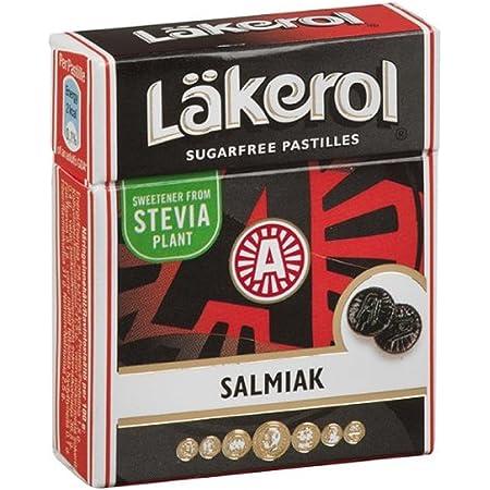 Läkerol Licorice Sugar Free Pastilles (4 Pack/Boxes) Imported Swedish Licorice (Salmiak)