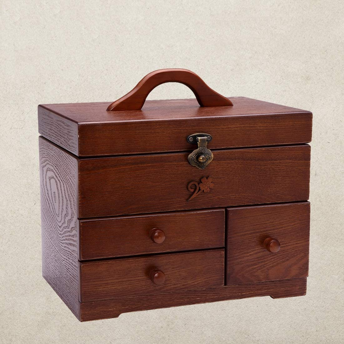 Antique Wooden Sewing Basket – 3 Industry No. 1 Layer DIY Sales results No. 1 Supplies Darning