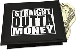 Straight Outta Money Wallet – Novelty Gifts for Men Teen Boys Funny Stocking Stuffers for Guys Straight Outta Jokes Gag Gifts for Men Broke Millennial Gifts for College Students Hipster Gifts
