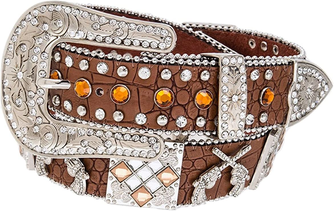 AGP Western Leather SEAL limited product Rhinestone Popular shop is the lowest price challenge Gun Concho Blin Extra Pistol Belt