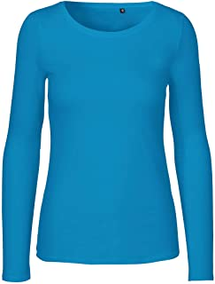 Green Cat Dames shirt met lange mouwen, 100% biologisch katoen. Fairtrade, Oeko-Tex en Ecolabel gecertificeerd
