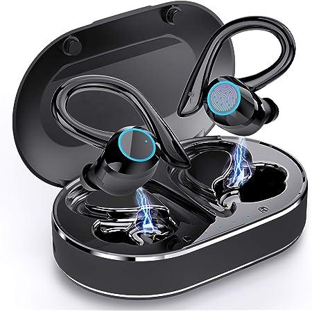 Andfive Wireless Earbuds, [2021 New Model] Bluetooth 5.1 Headphones in Ear with Earhooks, Wireless Sport Headphones for Running, Bluetooth Earphones Noise Cancelling Deep Bass, IP7 Waterproof Headset