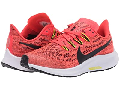 Nike Kids Air Zoom Pegasus 36 (Little Kid/Big Kid) (Laser Crimson/Black/Bright Cactus/White) Kids Shoes