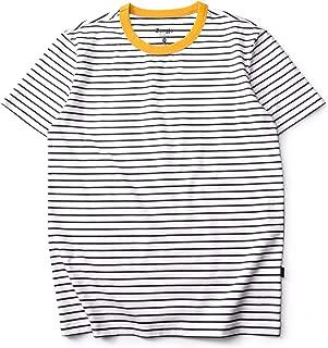 Men's Striped Shirt Short Sleeve Crew Neck Stripe Cotton T Shirt