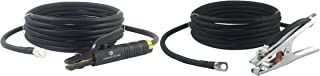 300 Amp Welding Leads Assembly Set - Terminal Lug Connector - #1 AWG cable (25 FEET EACH LEAD)